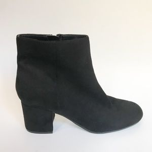 Marc Fisher Faux Suede Block Heel Ankle Boots